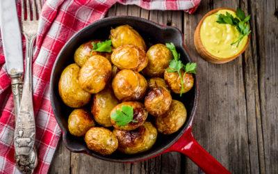 újkrumpli, serpenyő, serpenyős krumpli, burgonya